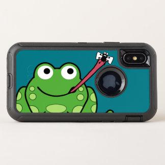 Capa Para iPhone X OtterBox Defender Sapo e mosca engraçados