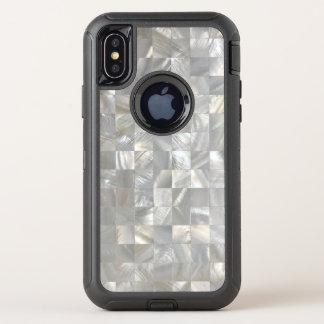Capa Para iPhone X OtterBox Defender Teste padrão clássico da madrepérola
