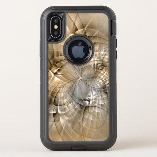 Capa Para iPhone X OtterBox Defender Textura moderna da arte do Fractal do abstrato dos
