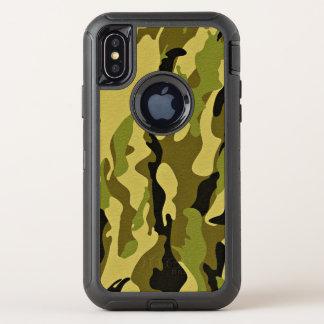 Capa Para iPhone X OtterBox Defender Textura verde do exército da camuflagem