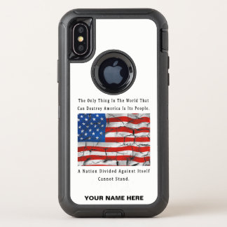 Capa Para iPhone X OtterBox Defender Uma nação dividida