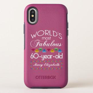 Capa Para iPhone X OtterBox Symmetry 60th Aniversário a maioria de rosa colorido