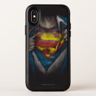 Capa Para iPhone X OtterBox Symmetry A caixa do superman | revela o esboço Colorized