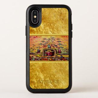 Capa Para iPhone X OtterBox Symmetry A porta do céu com uma textura e um Jesus da folha