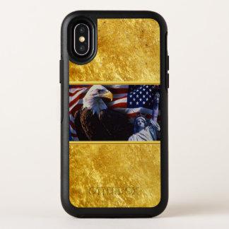 Capa Para iPhone X OtterBox Symmetry Águia americana uma estátua da liberdade uma