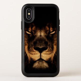 Capa Para iPhone X OtterBox Symmetry Arte africana da cara do leão