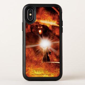 Capa Para iPhone X OtterBox Symmetry Balrog contra Gandalf