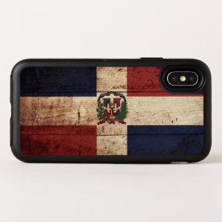 Capa Para iPhone X OtterBox Symmetry Bandeira da República Dominicana na grão de