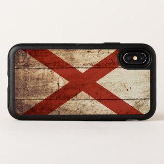 Capa Para iPhone X OtterBox Symmetry Bandeira do estado de Alabama na grão de madeira
