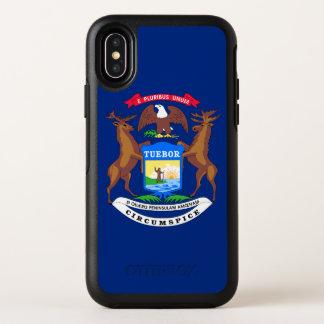 Capa Para iPhone X OtterBox Symmetry Bandeira do estado do Michigan