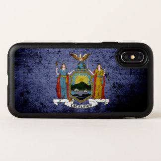 Capa Para iPhone X OtterBox Symmetry Bandeira preta dos Estados de Nova Iorque do
