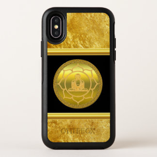 Capa Para iPhone X OtterBox Symmetry Buddha que faz a folha de ouro espiritual da