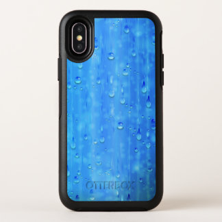 Capa Para iPhone X OtterBox Symmetry Caixa azul molhada do iPhone X de OtterBox