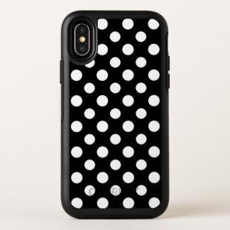 Capa Para iPhone X OtterBox Symmetry Caixa preto e branco do iPhone X do teste padrão