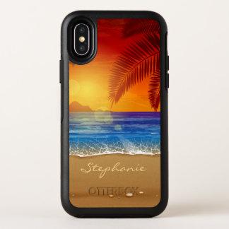 Capa Para iPhone X OtterBox Symmetry Caixa tropical personalizada do iPhone X do por do