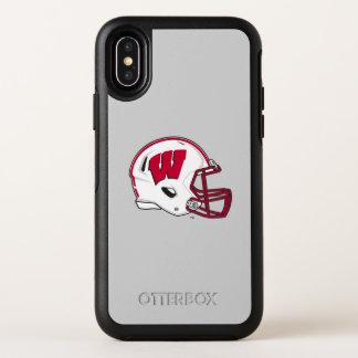 Capa Para iPhone X OtterBox Symmetry Capacete de futebol de Wisconsin |