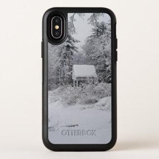 Capa Para iPhone X OtterBox Symmetry Casa boa no inverno por Phylli 2
