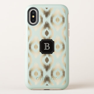 Capa Para iPhone X OtterBox Symmetry Caso chique à moda do monograma de Ikat do