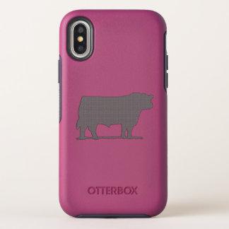 Capa Para iPhone X OtterBox Symmetry Caso de Otterbox do iPhone do gado de Aberdeen