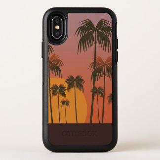 Capa Para iPhone X OtterBox Symmetry Caso do iPhone tropical sereno X do por do sol &