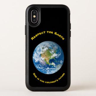 Capa Para iPhone X OtterBox Symmetry Caso do iPhone X de OtterBox da terra do planeta