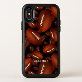 Capa Para iPhone X OtterBox Symmetry Caso do iPhone X de OtterBox do futebol com nome