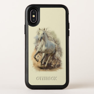 Capa Para iPhone X OtterBox Symmetry Caso do iPhone X de OtterBox do galope do cavalo