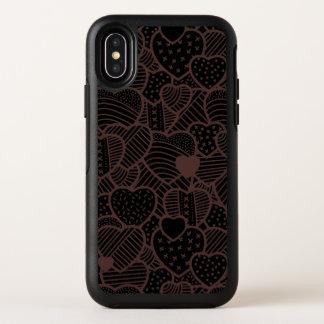 Capa Para iPhone X OtterBox Symmetry Caso do iPhone X do dia dos namorados dos corações