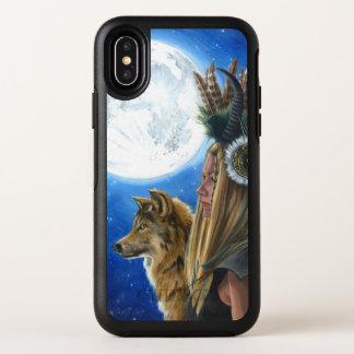 Capa Para iPhone X OtterBox Symmetry Caso do iPhone X Otterbox do guerreiro da lua do