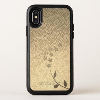 Capa Para iPhone X OtterBox Symmetry Caso moderno de Otterbox da flor do ouro