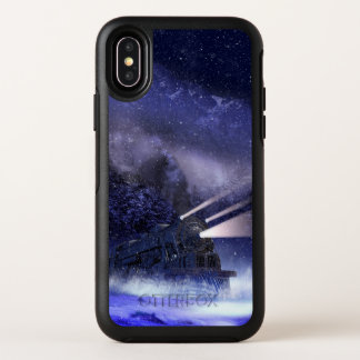 Capa Para iPhone X OtterBox Symmetry Caso nevado do iPhone X de OtterBox do trem de