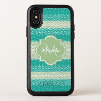Capa Para iPhone X OtterBox Symmetry Cerceta na moda e luz - teste padrão e nome verdes