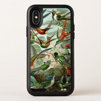 Capa Para iPhone X OtterBox Symmetry Colibris por Ernst Haeckel, árvores dos pássaros