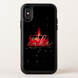 """Capa Para iPhone X OtterBox Symmetry """"Coma vermelho do bolo"""" e capas de iphone"""