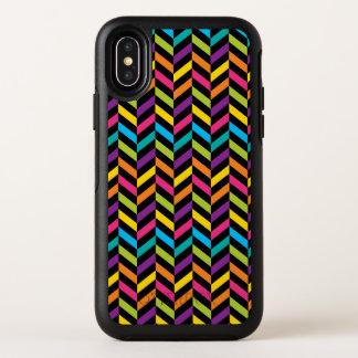 Capa Para iPhone X OtterBox Symmetry Design colorido 1 da forma na moda brilhante de