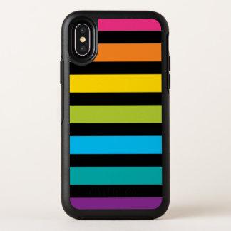 Capa Para iPhone X OtterBox Symmetry Design colorido 4 da forma na moda brilhante de