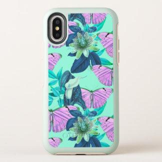 """Capa Para iPhone X OtterBox Symmetry Do """"impressão da borboleta bom humor"""" por"""