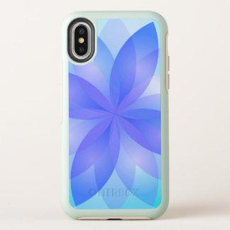 Capa Para iPhone X OtterBox Symmetry flor de Lotus do abstrato do caso da simetria do
