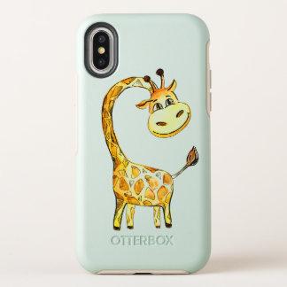 Capa Para iPhone X OtterBox Symmetry girafa alegre