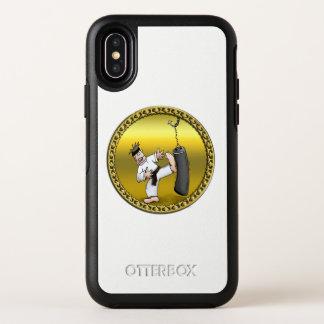 Capa Para iPhone X OtterBox Symmetry Homem do karaté do cinturão negro que retrocede um