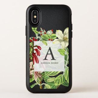 Capa Para iPhone X OtterBox Symmetry Ilustração botânica floral das hortaliças do