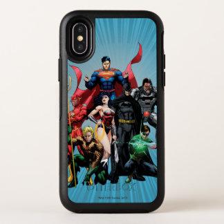 Capa Para iPhone X OtterBox Symmetry Liga de justiça - grupo 2