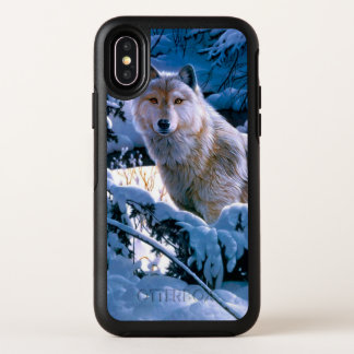 Capa Para iPhone X OtterBox Symmetry Lobo ártico - lobo branco - arte do lobo