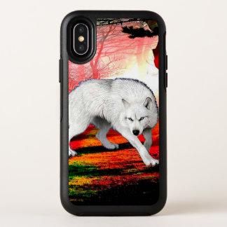 Capa Para iPhone X OtterBox Symmetry Lobo branco - lobo ártico - lobo americano
