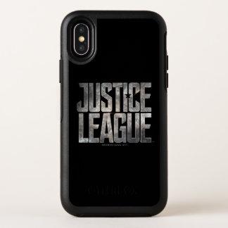Capa Para iPhone X OtterBox Symmetry Logotipo metálico da liga de justiça da liga de