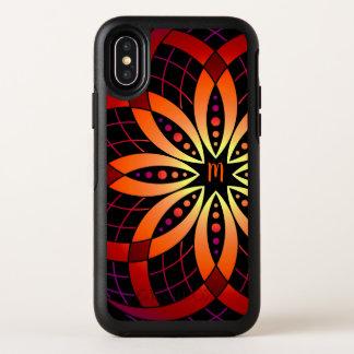 Capa Para iPhone X OtterBox Symmetry mandala digital do ombre da arte monogrammed