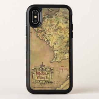 Capa Para iPhone X OtterBox Symmetry Mapa médio da terra