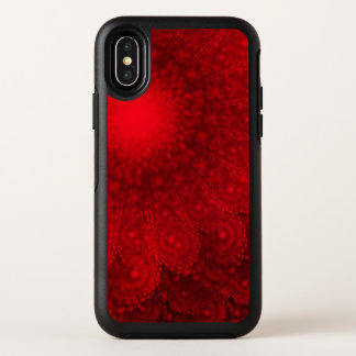Capa Para iPhone X OtterBox Symmetry Margarida vermelha abstrata de roda