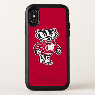 Capa Para iPhone X OtterBox Symmetry Mascote Bucky do texugo de Wisconsin |