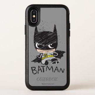 Capa Para iPhone X OtterBox Symmetry Mini esboço clássico de Batman